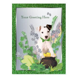 Jack Russell Original Puppy St Pattys 2nd Version Postcard