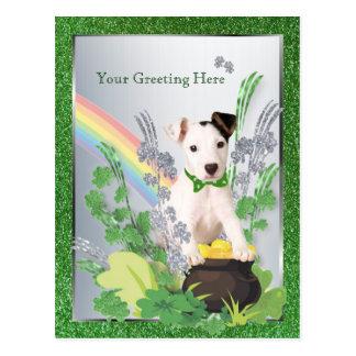 Jack Russell Original Puppy St Pattys Customize It Postcard