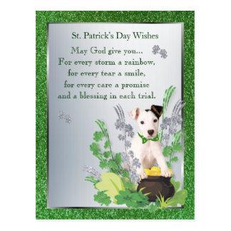 Jack Russell Original St Pattys Spiritual Message Postcard