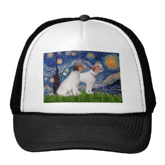 Jack Russell Pair 4 - Starry Night Cap