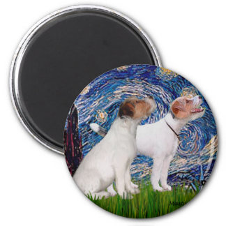 Jack Russell Pair 4 - Starry Night Magnet