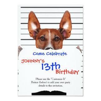 Jack russell prisoner 13 cm x 18 cm invitation card