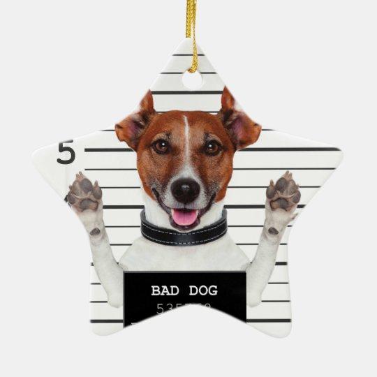 Jack russell prisoner christmas ornament