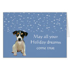 Jack Russell Puppy Holiday Card