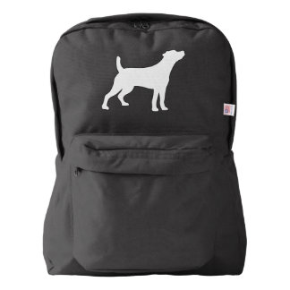 Jack Russell Smooth Coat in Silhouette Backpack