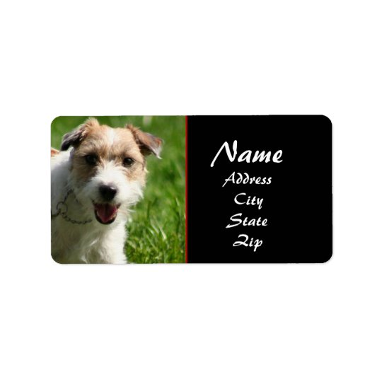 Jack Russell terrier address label