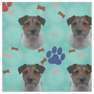 Jack Russell Terrier Art Fabric