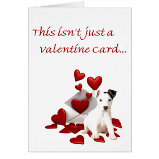 Jack Russell Terrier Be My Valentine Card