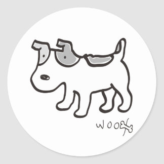 Jack Russell Terrier Chiro Classic Round Sticker