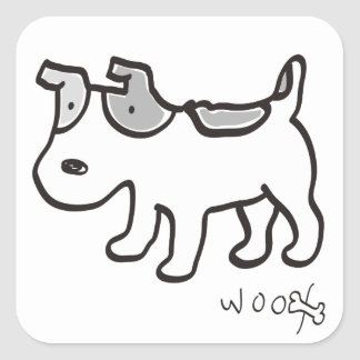 Jack Russell Terrier Chiro Square Sticker