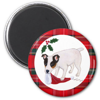 Jack Russell Terrier Christmas Magnet