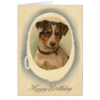 Jack Russell Terrier Collar Birthday Greeting Cards