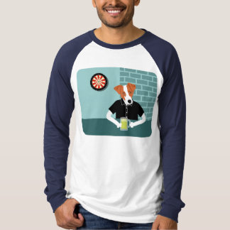 Jack Russell Terrier Dartboard Beer Bar T-shirt