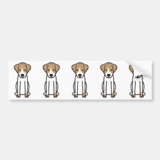 Jack Russell Terrier Dog Cartoon Bumper Sticker