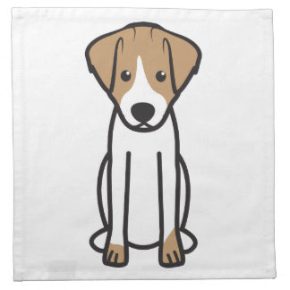 Jack Russell Terrier Dog Cartoon Napkin