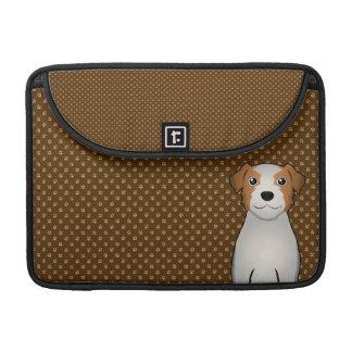 Jack Russell Terrier Dog Cartoon Paws MacBook Pro Sleeves