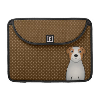Jack Russell Terrier Dog Cartoon Paws Sleeve For MacBook Pro
