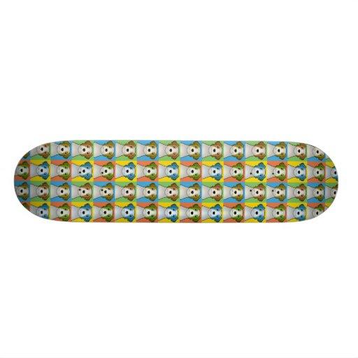 Jack Russell Terrier Dog Cartoon Pop-Art Skateboard