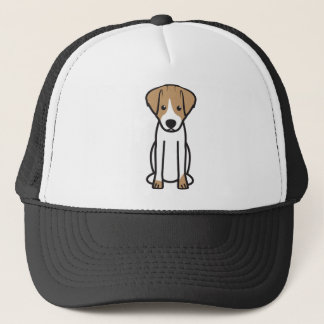 Jack Russell Terrier Dog Cartoon Trucker Hat