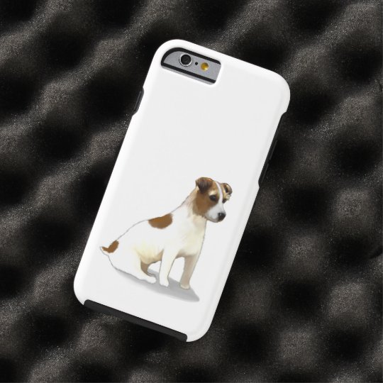Jack Russell Terrier Dog Sitting Tough iPhone 6