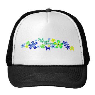 Jack Russell Terrier Flowers Cap