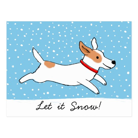 Jack Russell Terrier - Happy Snow Dog Holiday