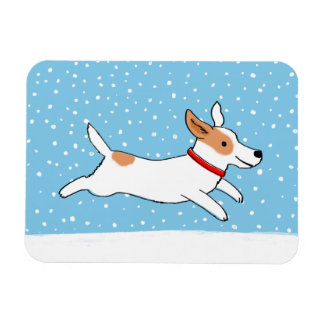 Jack Russell Terrier - Happy Winter Snow Dog Magnet