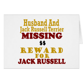 Jack Russell Terrier & Husband Missing Reward For Cards