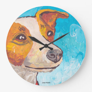 Jack Russell Terrier Large Clock