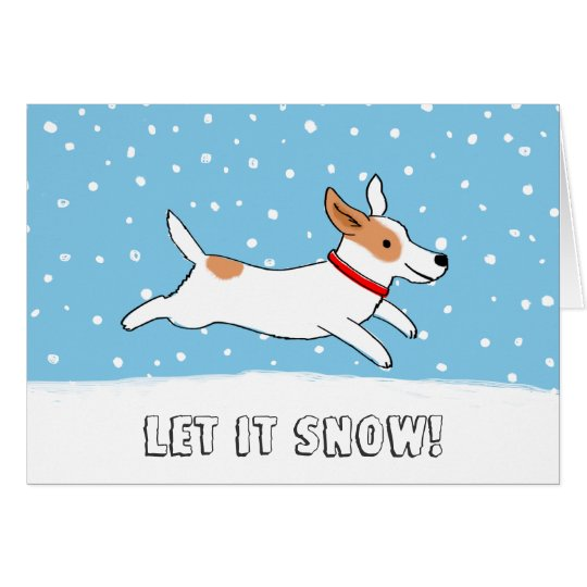 Jack Russell Terrier Let it Snow Dog Christmas