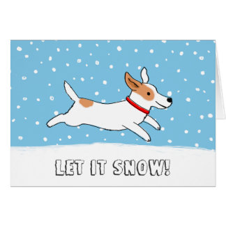 Jack Russell Terrier Let it Snow Dog Christmas Card