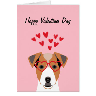 Jack Russell Terrier Love Valentines Day Love card