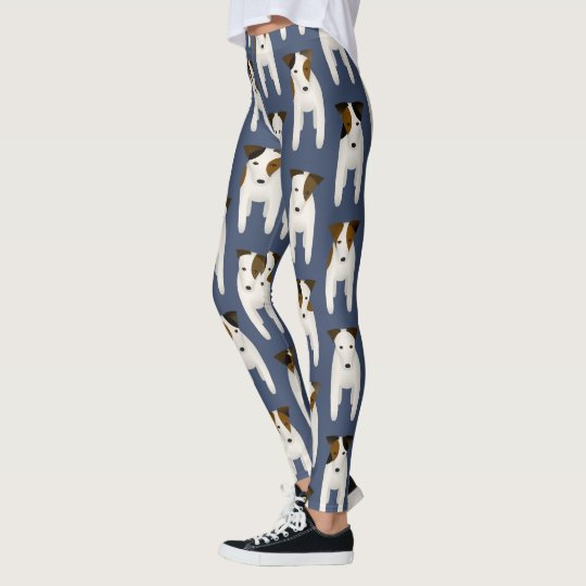 Jack Russell Terrier lovers patterned blue Leggings