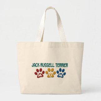 JACK RUSSELL TERRIER Mom Paw Print 1 Jumbo Tote Bag