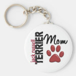 Jack Russell Terrier Mum 2 Basic Round Button Key Ring