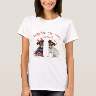 Jack Russell Terrier Naughty Or Nice T-Shirt