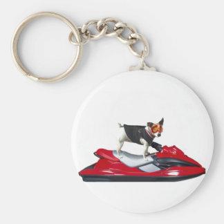 Jack Russell Terrier on Jetski keychain