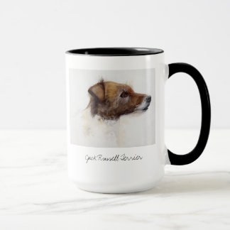 Jack Russell Terrier Painted in Watercolour Mug