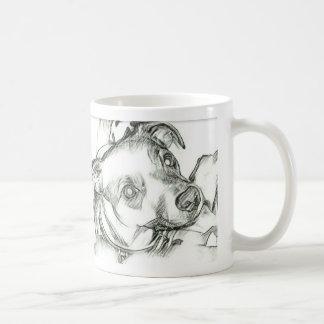 Jack Russell terrier pencil sketch Coffee Mug
