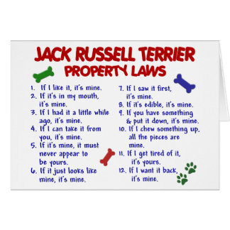 JACK RUSSELL TERRIER Property Laws 2 Greeting Cards