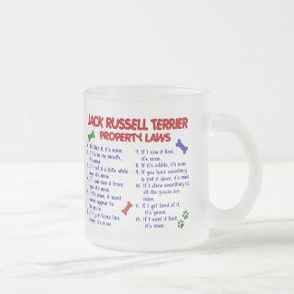 JACK RUSSELL TERRIER Property Laws 2 Frosted Glass Coffee Mug