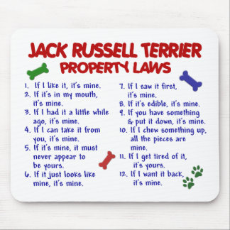 JACK RUSSELL TERRIER Property Laws 2 Mouse Mat
