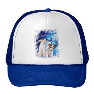 Jack Russell Terrier Puppy Let It Snow Design Cap