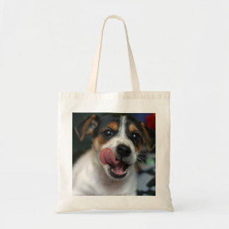 Jack Russell Terrier Puppy Tote Bag