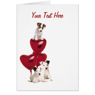 Jack Russell Terrier Really Cute Valentine Design Greeting Card