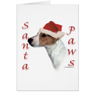 Jack Russell Terrier Santa Paws Greeting Card