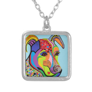 Jack Russell Terrier Square Pendant Necklace