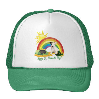 Jack Russell Terrier St. Patrick's Day Wishes Cap