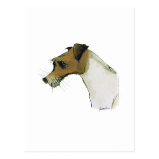 jack russell terrier, tony fernandes postcard