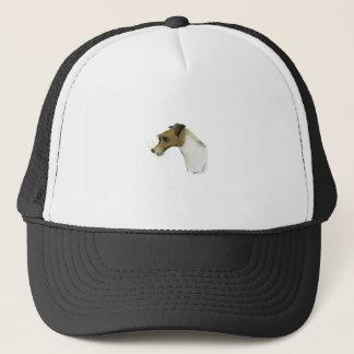 jack russell terrier, tony fernandes trucker hat